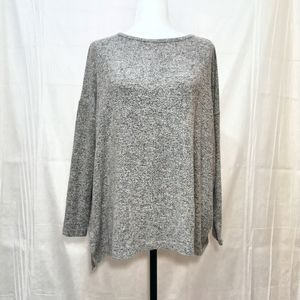 Roots gray salt and pepper sweater